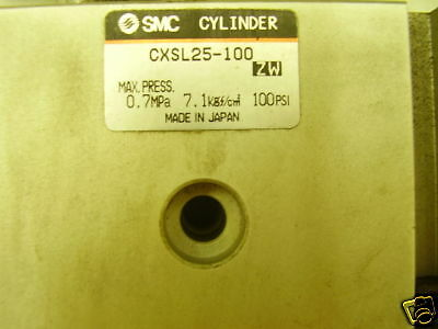 Smc Cxsl25-100 Dual Rod Guided Pneumatic Cylinder