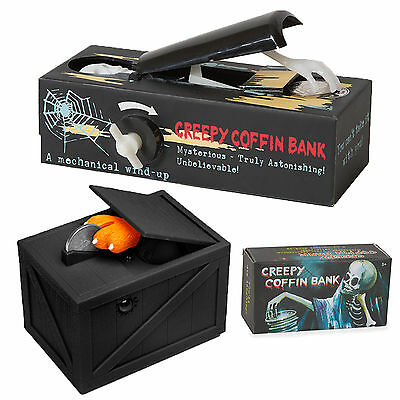 The Black Box Or Creepy Coffin Money Piggy Bank Novelty Change Halloween Gift