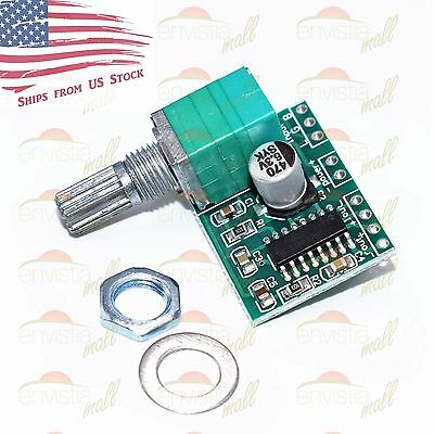 PAM8403 3W Stereo Audio Power Amplifier Board Module with Volume Control Pot US