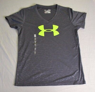 Under Armour Youth Heat Gear Tee's Black w/ Yellow $13.99 w. Free Shipping 2USA