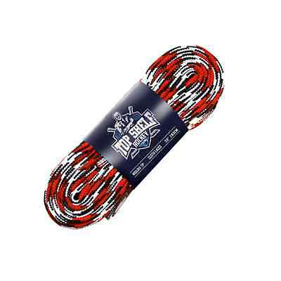 "Hockey Laces Cloth Red/Black/White Top Shelf Hockey 96"" - 4 Pack"