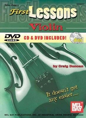 First Lessons Violin [With CD and DVD] by Craig Duncan.