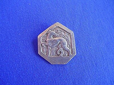 Whippet Greyhound ABSTRACT token pin #13H Pewter Dog Jewelry by Cindy A. Conter