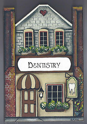 Brandywine Collectible Houses & Shops: DENTISTRY - Wooden Shelf Sitter
