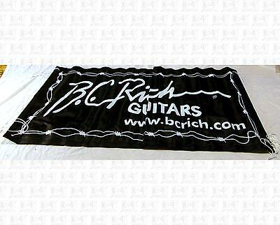 BC Rich Guitars Wall Advertising Banner With Tie Strings