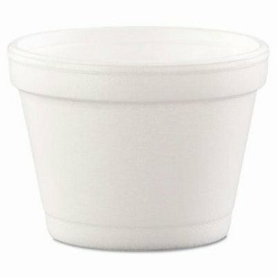 4-oz. Squat Foam Containers, 1,000 Containers (DCC 4J6)