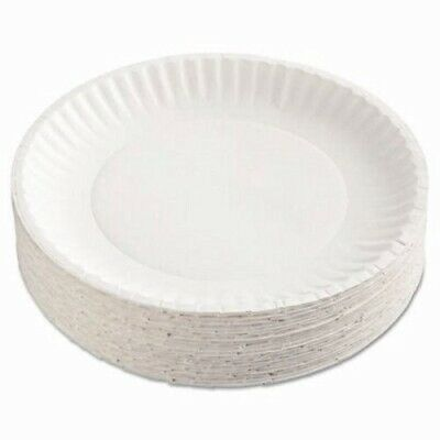 """Gold Label 9"""" Coated White Paper Plates, 1,000 Plates (AJM CP9GOEWH)"""