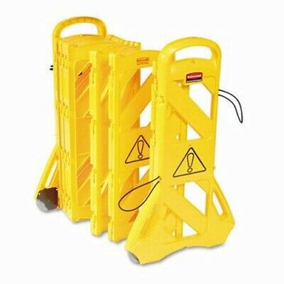 Rubbermaid 9S11 Extendable Mobile Safety Barrier, Yellow (RCP 9S11 YEL)