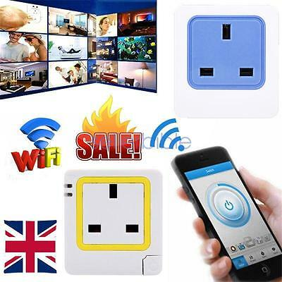 Wifi Phone APP Remote Control Socket Switch Timer Smart Wireless UK-Plug Outlet