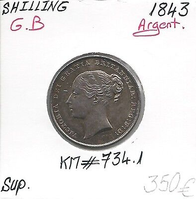 GREAT BRITAIN - SHILLING - 1843 - Coin Silver Quality: SUP