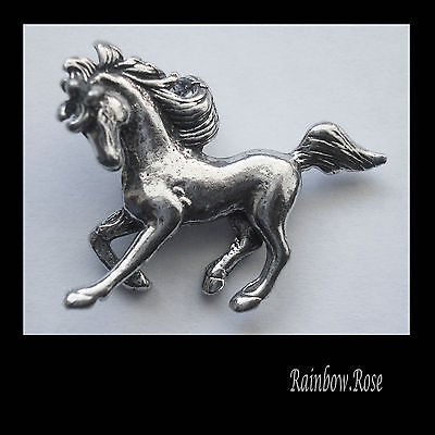 PEWTER CHARM #1067 DANCING HORSE (30mm x 25mm) 1 bail 3D PENDANT