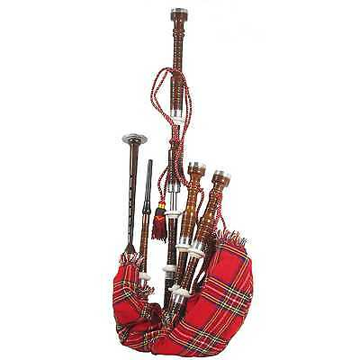 Glenluce Bagpipes, Rosewood - Full Set, Inc. Reeds & Bag - NEW, FREE UK SHIPPING