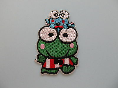 Green Frog Animal Iron on Applique Patch