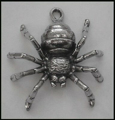 PEWTER CHARM #1092 SPIDER (41mm x 38mm) 1 bail PENDANT
