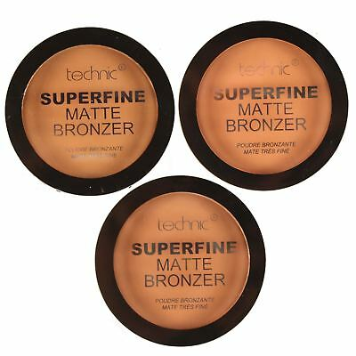 Technic Matte Bronzing Face Powder Compact Bronzer Contour Make Up Bronze