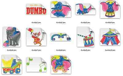 Disney Dumbo Brother Machine Embroidery Designs PES CD,USB