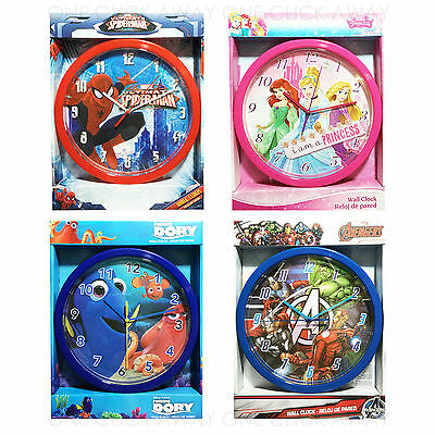 Kids Children Disney Marvel Character Wall Clock Avengers Spider Man Princess