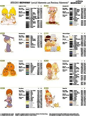 Precious Moments Pack 2 Brother Machine Embroidery Designs PES CD,USB