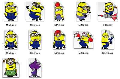 Minions Brother Machine Embroidery Designs PES CD,USB