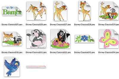 Disney Bambi Brother Machine Embroidery Designs PES CD,USB