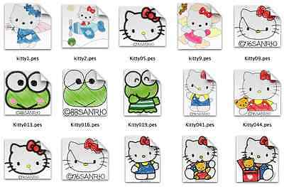 Hello Kitty Brother Machine Embroidery Designs PES CD,USB
