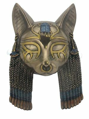 Egyptian Goddess Bastet Mask Wall Plaque Statue Sculpture HOME DECOR -Gift Boxed