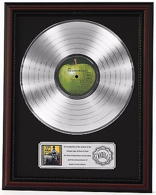 "Paul Mccartney Ram Platinum Lp Record Framed Cherrywood Display ""k1"""