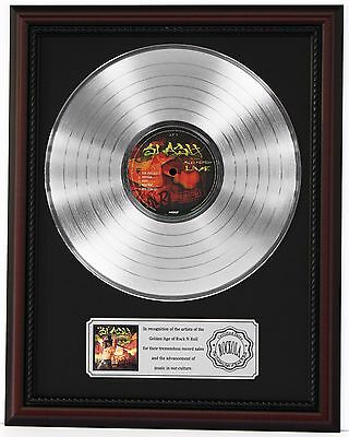 "Slash Platinum Lp Record Framed Cherrywood Display ""k1"""