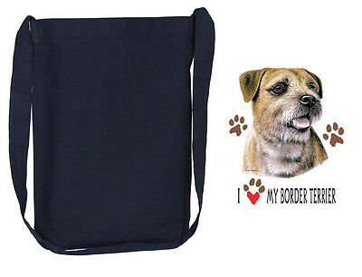 BORDER TERRIER black cross body tote bag sling bag purse