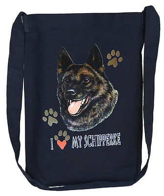 SCHIPPERKE  black cross body tote bag sling bag purse