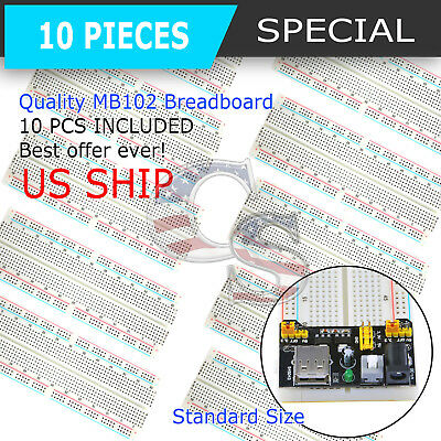 10X MB-102 830 Point Prototype PCB Breadboard for Arduino