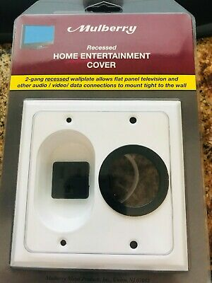 Mulberry Recessed Home Entertainment Cover  40567 2G Rcsd 15A Feed-Thr Plt