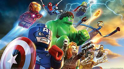 A3 LEGO MOVIE SUPERHEROES POSTER PRINT WALL ART