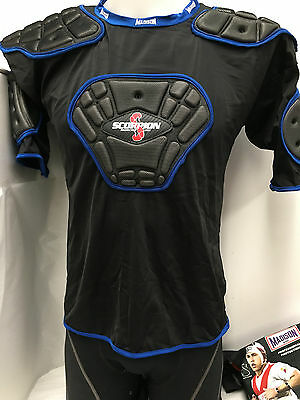 New scorpion protective vest rugby union league football guards mens XL black