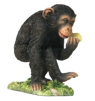 "5.25"" Baby Chimp Wildlife Statue Animal Decor Figure Sculpture Chimpanzee Wild"