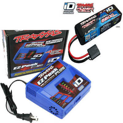 Traxxas EZ-Peak Plus Fast Charger w/ ID 2S 7.4V 25C 5800mAh Lipo Battery