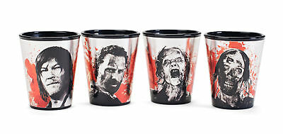 The Walking Dead New Art 4 Shot Glass Pack