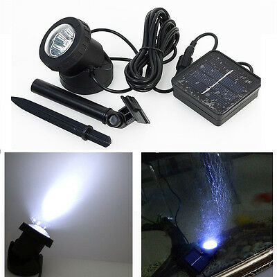 Solar Power Fountain Underwater Pump LED Lights Water Features Garden Pond Lamp
