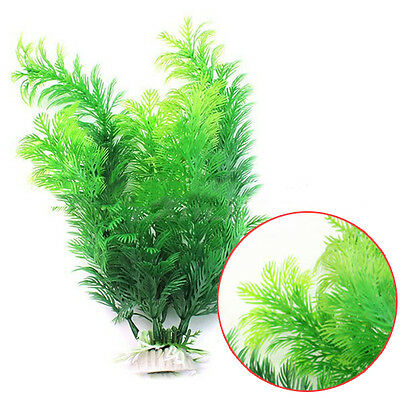 Aquarium Decor Green Artificial Plastic Water Grass Plant Ornament for Fish Tank