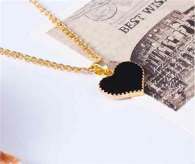 Gold Plated Heart Pendant Bib statement Chain Necklace Fashion Women Jewelry