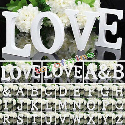 26 Wooden Letters Alphabet Wall Hanging Wedding Party Home Shop Decoration
