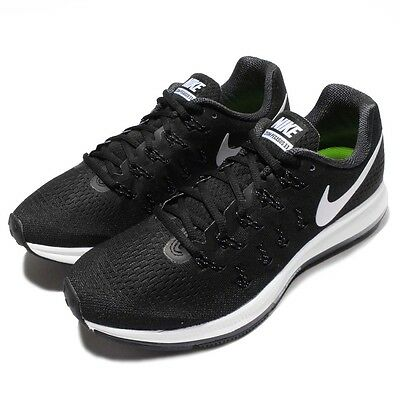 Nike Air Zoom Pegasus 33 Black White Mens Running Trainers Sneakers 831352-001