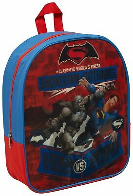 Children Kids Batman vs Superman Lenticular School Travel Backpack Shoulder Bag
