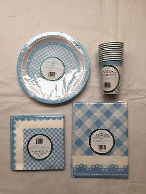 New Special Occasions Baby Shower Party Buffet Accessories 4-Piece Set Blue
