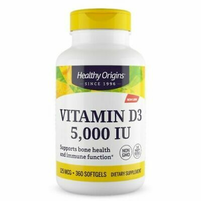 VITAMINA Healthy Origins Vitamin D-3 5000 iu 360 softgels