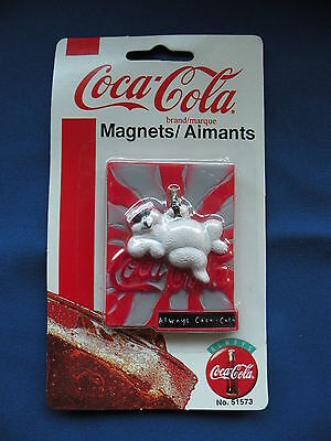 Coca-Cola Magnet 1997 square bear w/sunglasses No. 51573 in orginal package