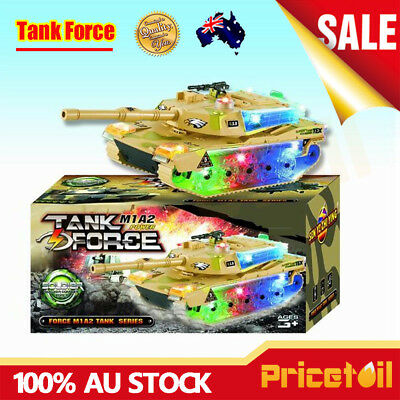 OZ Bump & Go Action Electric Military Tank Fighter Toy with Lights & Sounds Gift