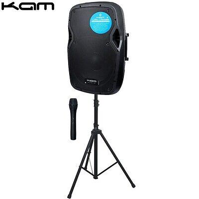 Kam RZ10A V3 Portable Wireless PA Karaoke Speaker with Mic and Stand
