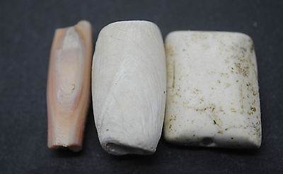 Three Ancient Near Eastern Stone Beads 1St Millennium Bc.