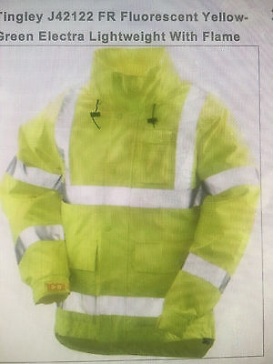 Tingley Fluorescent Y-Green Electra Lightweight Flame Resist Size XL #J42122 FR